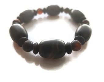 Zen Agate Beaded Bracelet