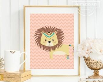 Safari Nursery Prints, Safari Nursery Bedding, Jungle Nursery Print, Tribal Safari Animal, Lion Nursery Print, Tribal Nursery Bedding (1PC)