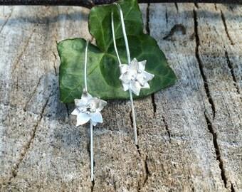 Lily Drop Earrings; Handmade, Sterling Silver Earrings