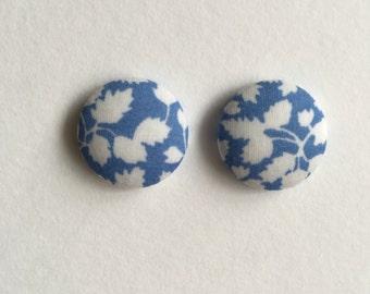 19mm Blue Vine Fabric Studs