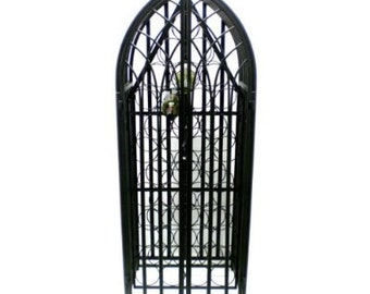 Gothic cathedral wine rack