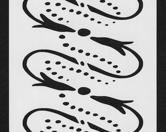 Primitive Style Stencil (Background 006)