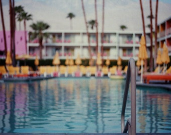 Palm Springs Photography, California, Palm Trees, Architecture, Colors, Analog Photography, 35mm, Los Angeles, Vintage, Desert, Summer