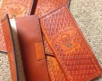 Custom Leather Tally Book