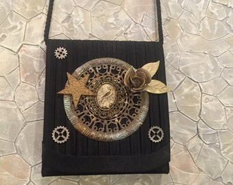 Unique handcrafted Steampunk Handbag