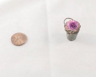 Miniature Cabbage Flower in bucket 1:12 scale