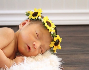 Newborn-Toddlers flower wreath crown