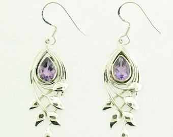 Iolite Earrings in sterling silver