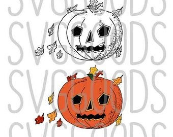Halloween dxf, Jackolantern dxf, Jack-o-Lantern dxf, pumpkin dxf, trick or treat dxf, fall dxf, layered cut file, commercial dxf, clipart
