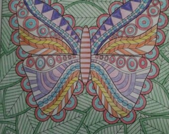 Nature Butterfly and leaves design