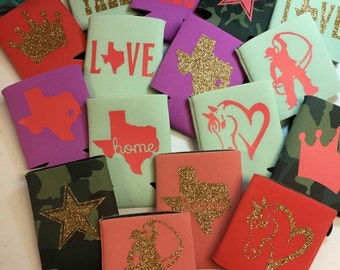 Customized Texas Koozies