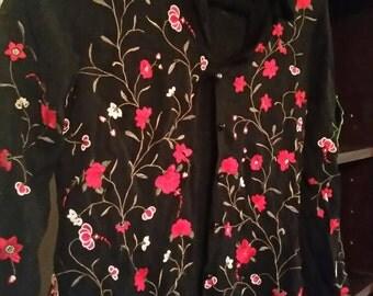 Karen Kane flowered blouse