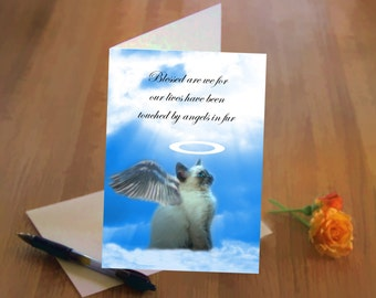 Angel Kitty Sympathy Card