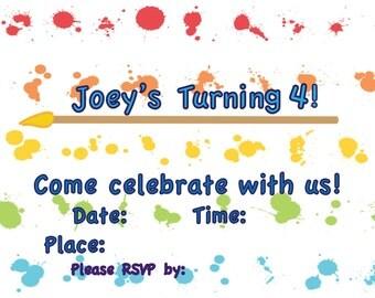 Art Birthday Invitations