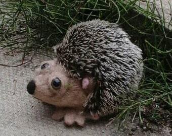 SALE - O.O.A.K Cute needle felted hedgehog