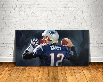 Tom Brady Canvas High Quality Giclee Print Wall Decor Art Poster Artwork
