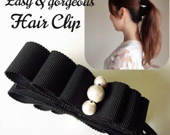Easy & Gorgeous Hair Clip, Ribbon Hair Clip