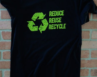 Reduce Reuse Recycle T-Shirt/Recycle Logo T-Shirt/Going Green/Save the Planet/Environmental Shirt/Recycling T-Shirt/Recycling Logo Shirt