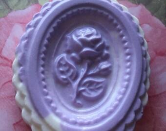 Rose Imprinted Soap Bar
