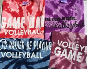 Tie Dye Volleyball T-shirts