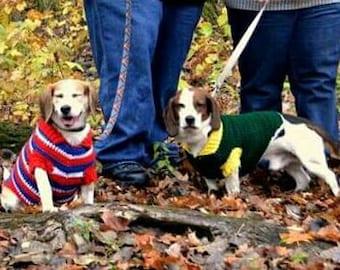 Custom Dog Sweater with collar