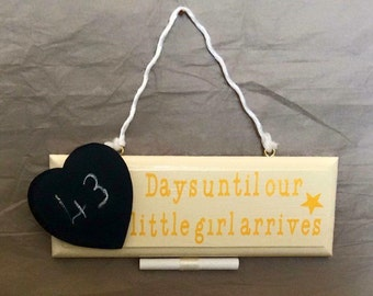 Wooden Plaques with chalkboard - any countdown