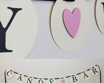Candy Bar Banner, Candy Bar Party Banner, Candy Party Banner, Candy Bar Decor, Bridal Shower, Wedding