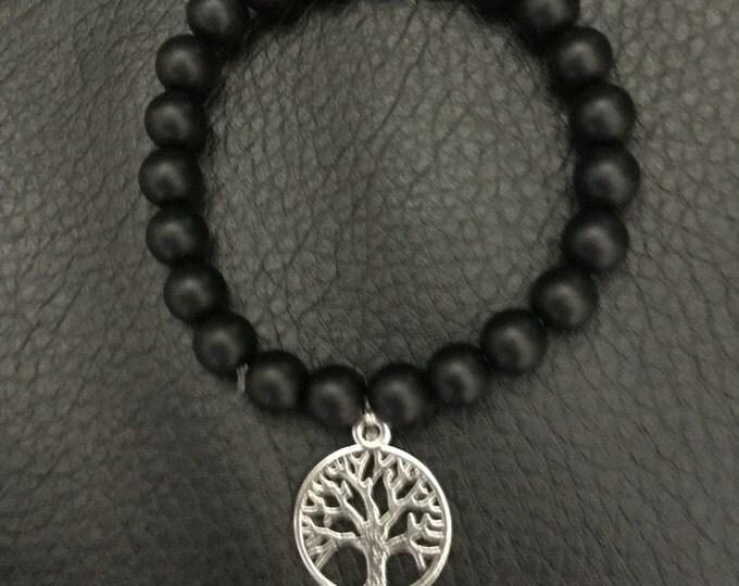 "Black Onyx, With the ""Tree of Wisdom"" pendant"