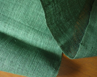 Length of green hemp fabric - handwoven textile - Grade A hemp