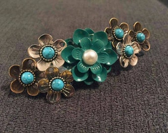 Flower French Barrette