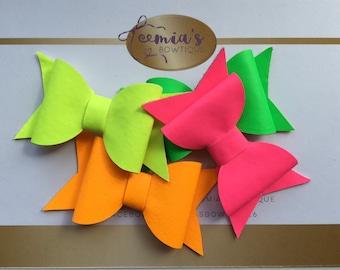 Handmade Didi Neon Hairbow - yellow, pink, green and orange