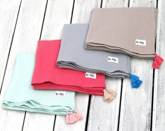 2 Layers 100%Cotton Muslin(gauze) Throw Blanket