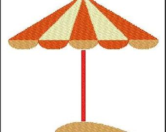 Fill Embroidery Design, Beach Umbrella, Sand, File, Digital, Download, Machine