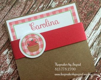 Red riding princess invitations