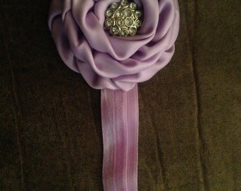 Purple Flower Elastic Headband
