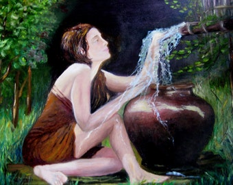 "The painting ""Girl with a Water Pitcher"""