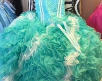 Mint swirl princess dress