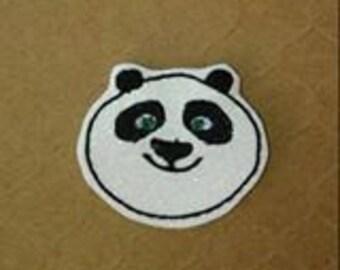 Fighting Panda Feltie Embroidery Design