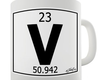 Periodic Table Of Elements V Vadadium Ceramic Mug