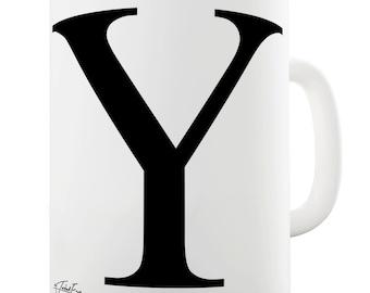 Alphabet Monogram Y Ceramic Novelty Mug