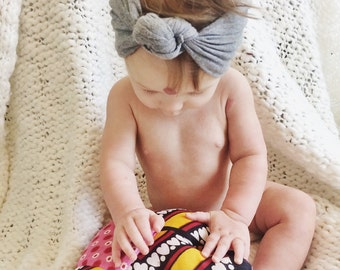 Grey Baby Knotted Wrap
