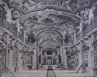 European Postcard /ADMONT  Stifts -Bibliothek  Nr 8307 /Black And White Postcard