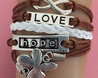 Love, hope bracelet