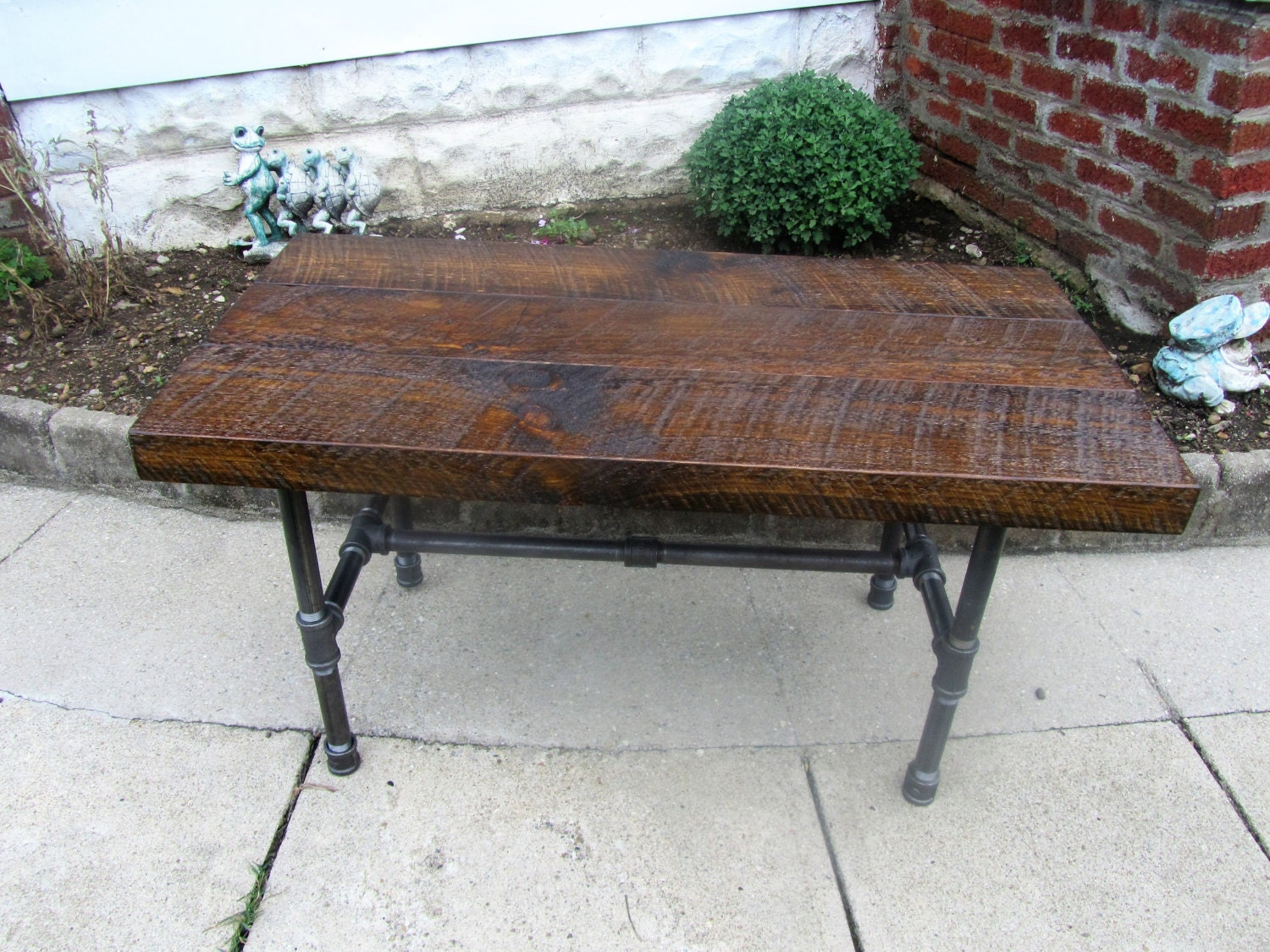 Industrial Reclaimed Wood Coffee Table Shabby By Picturesquewoodco