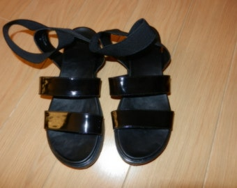 Almost new black Sandals - UK4 (37)