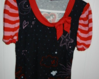 T-shirt Anatopik sleeve striped - size 44