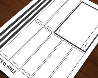 Printable Weekly Planner \ DIGITAL DOWNLOAD \