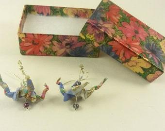 Spring Dragon Origami Earrings