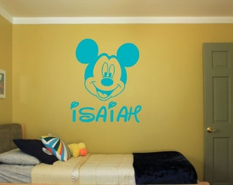 Personalized Mickey Mouse Wall Decal