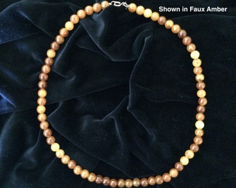 Faux Stone Bead Necklaces